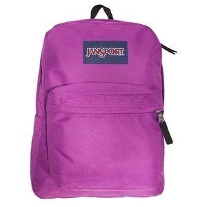 JanSport SuperBreak Purple Plum School Backpack